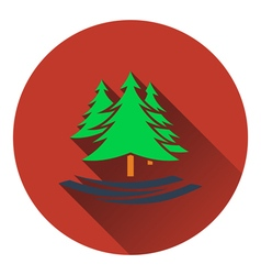 Icon of fir forest vector image