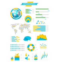 Infographic collection with labels vector image vector image