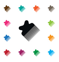 isolated hairdresser icon crest element vector image