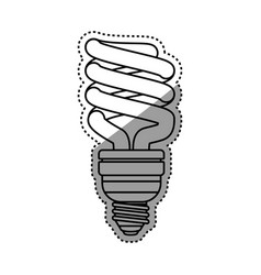 Light bulb electric fluorescent vector