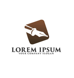 luxury pen logo fountain pen logo design concept vector image