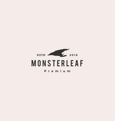 monster leaf logo icon vector image