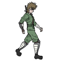 ninja walking vector image