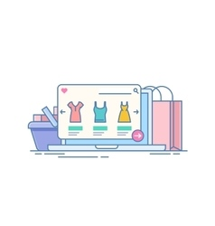 Online store Concept of purchase on the Internet vector image