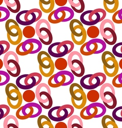 pattern colored rings vector image