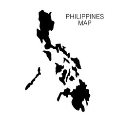 Philippines map and country name isolated on white vector