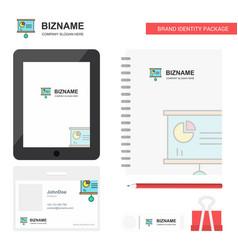 presentation chart business logo tab app diary vector image