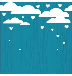 Raining hearts vector image