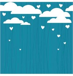 Raining hearts vector image
