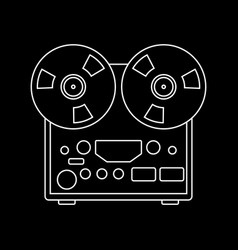 reel recorder lining draw vector image