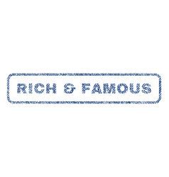 rich famous textile stamp vector image