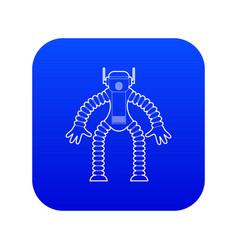 Robot monkey icon blue vector