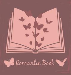 Romantic book vintage poster design vector