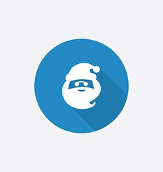 santa Flat Blue Simple Icon with long shadow vector image
