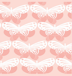Seamless background butterfly pattern vector