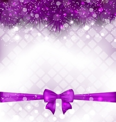Shimmering Luxury Background with Bow Ribbon vector