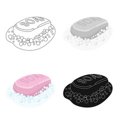 Soap icon in cartoon style isolated on white vector