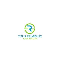 Sr circle logo design vector