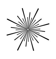 Sunburst decoration design vector