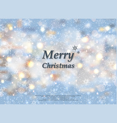 sunny snow flakes on christmas festival background vector image