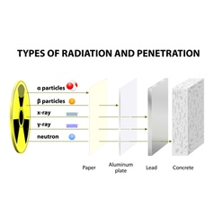 Types of Radiation vector image