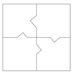 Unusual abstract blank rectangle jigsaw puzzle vector