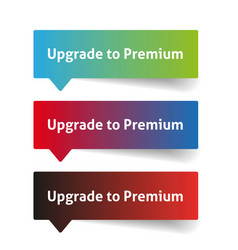 Upgrade to premium call to action button vector