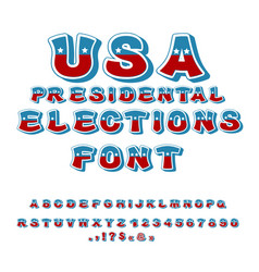 usa presidental election font political debate in vector image
