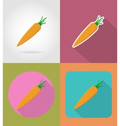 Vegetables flat icons 11 vector
