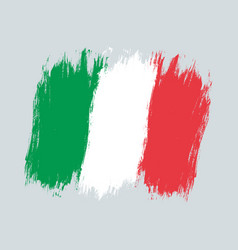 vintage italian flag drawing flag of italy vector image
