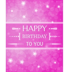 Violet birthday card vector