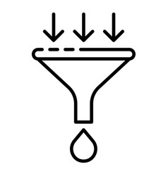 Water filter funel icon outline style vector