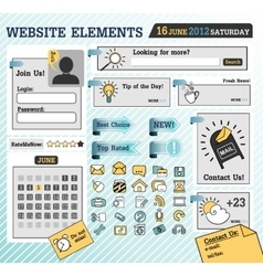 web elements vector image