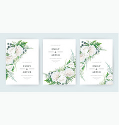 Wedding invite invitation save date card floral vector