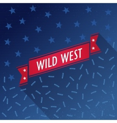 Wild west poster with bullets and stars vector image