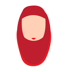 Woman avatar with hijab vector