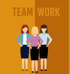 Womens teamwork cartoon vector