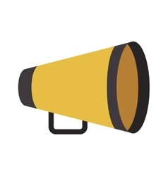 Yellow director megaphone vector