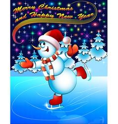 background postcard Christmas vector image