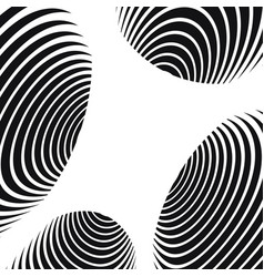 black and white abstract spiral tunnel background vector image
