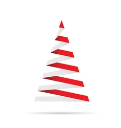 christmas tree in red and white vector image
