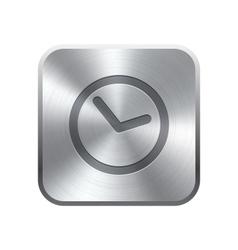 Clock icon button vector image