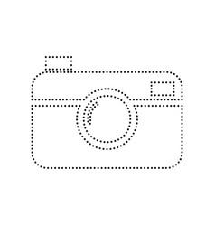 digital photo camera sign black dotted vector image vector image