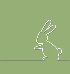 easter rabbit on green background vector image vector image