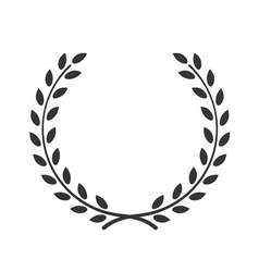 laurel wreath symbol victory achievement vector image vector image