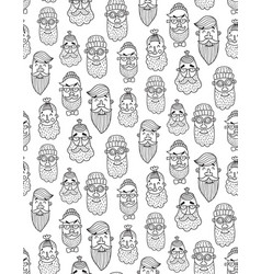 monochrome hipster pattern vector image vector image