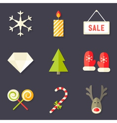 9 Christmas Icons Set 7 vector image vector image