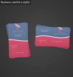 Business card for a stylist vector image
