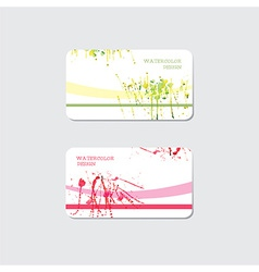 Business cards templates vector image