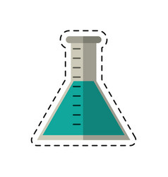 cartoon laboratory test tube chemistry vector image vector image